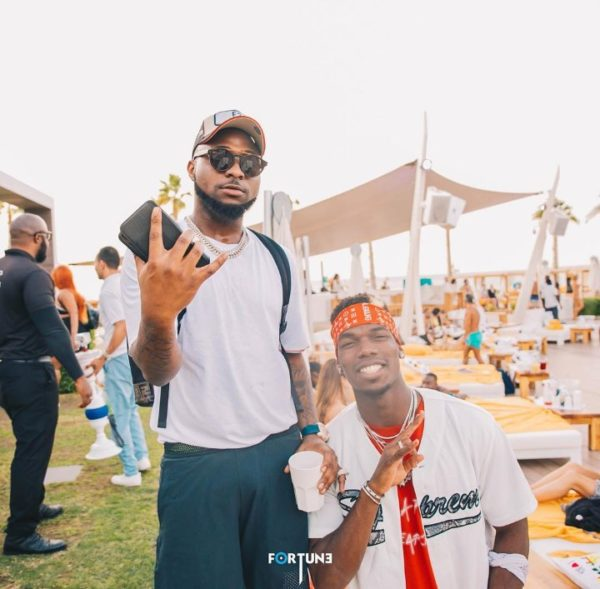 Davido, Pogba meet in Dubai