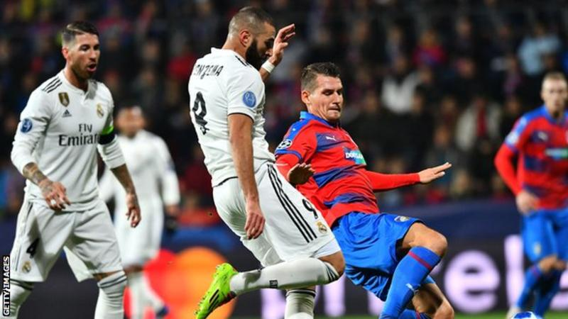 UEFA Champions League: Karim Benzema scores his 200th goal as Champions Real Madrid thrash Viktoria Plzen 5-0 + All Wednesday's Results