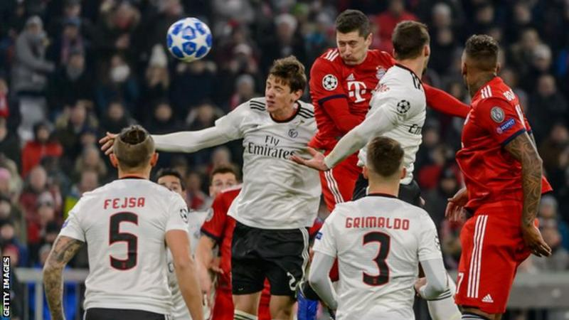 Tuesday's UEFA Cham[ions League Results: Robert Lewandowski scores half a century goals as Bayern Munich hammer Benfica 5-1 + All the Results