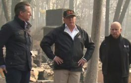 California wildfires: Trump visits state's deadliest wildfire