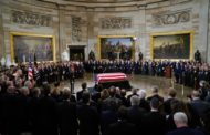 Solemn ceremony begins days of mourning for former US president Bush