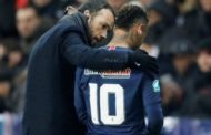 Neymar in tears as he leaves the pitch after fracturing a metatarsal