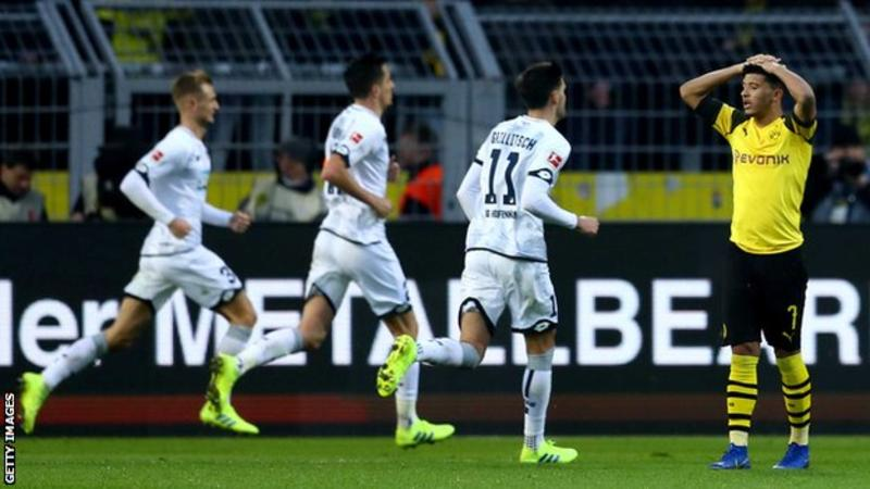 Bundesliga Results: Leaders Borussia Dortmund waste 3-0 lead to concede draw to Hoffenheim