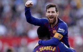 Lionel Messi equals Pele's record of 643 goals playing for one club