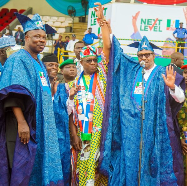 AMOSUN CELEBRATES APC'S SHOW OF SHAME IN ABEOKUTA, OSHIOMHOLE BOOED