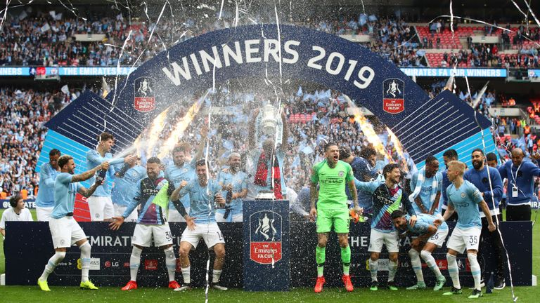 Man City 6-0 Watford: Raheem Sterling scores FA Cup final hat-trick