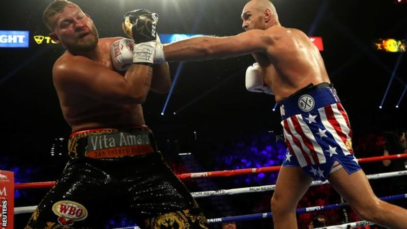 Tyson Fury stops Tom Schwarz in second round of heavyweight fight in Las Vegas