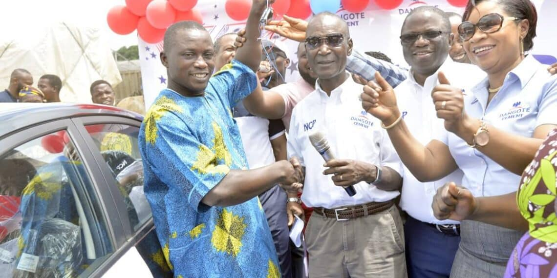 DANGOTE CEMENT BAG OF GOODIES PROMO RECORDS FIRST STAR PRIZE WINNER