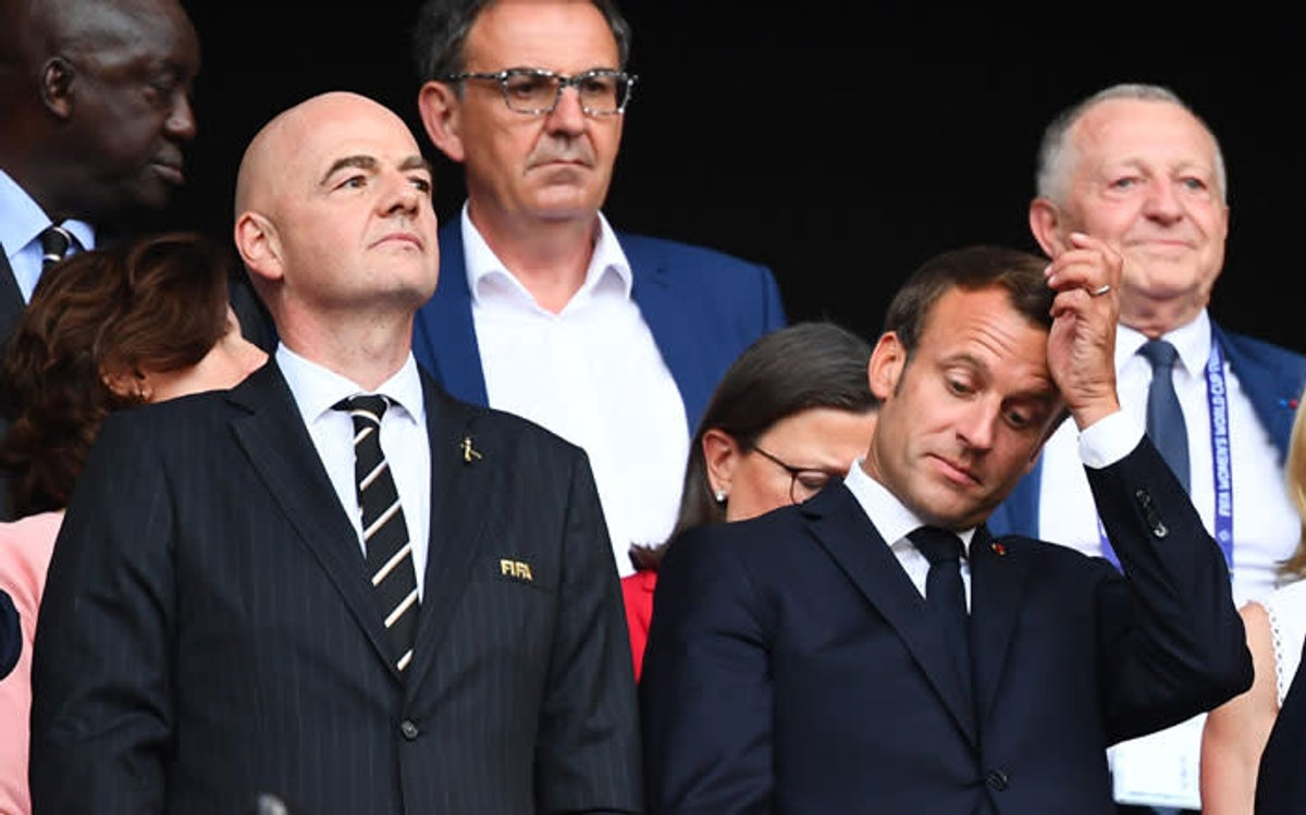 Crowd boos FIFA President Infantino and French President Macron at Women World Cup Final in Lyon