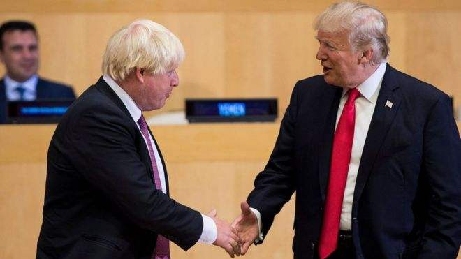 Boris Johnson: Relationship with Trump will be 'sensational', says top diplomat