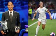 Uefa Player of the Year: Lucy Bronze and Virgil van Dijk win awards