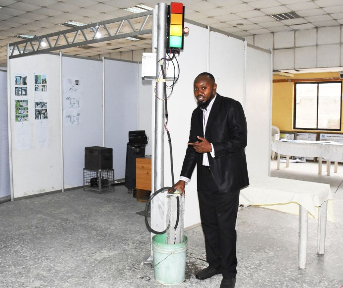 Unilag students invent flood level caution device to save road users