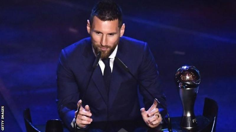 Lionel Messi: Barcelona forward wins Ballon d'Or for record sixth time