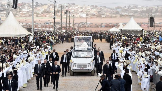 Huge crowds attend Pope's Mass in Madagascar