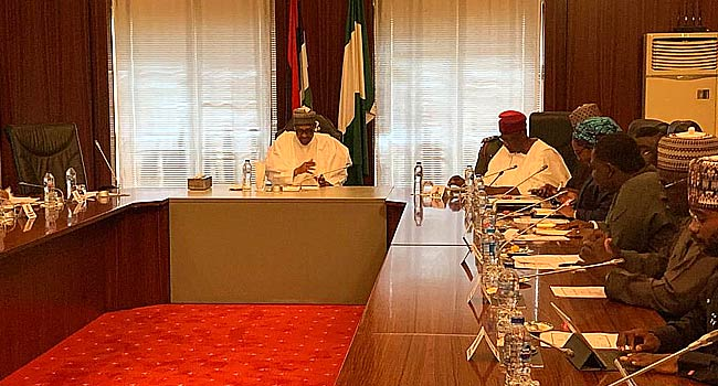Buhari meets members of his Economic Advisory Council