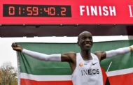 Athletics: Eliud Kipchoge of Kenya breaks two-hour marathon mark by 20 seconds
