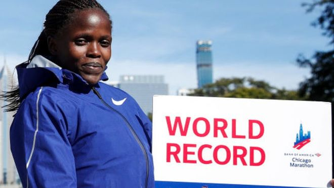 Kenya's Brigid Kosgei: School dropout, mother of twins and world record-holder
