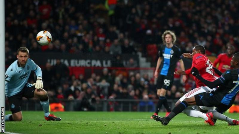 Odion Ighalo scores as Man Utd beat Club Bruges 5-0 to reach Europa League last 16