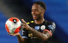 Raheem Sterling scores his third hat-trick of the season as Man City beat Brighton 5-0