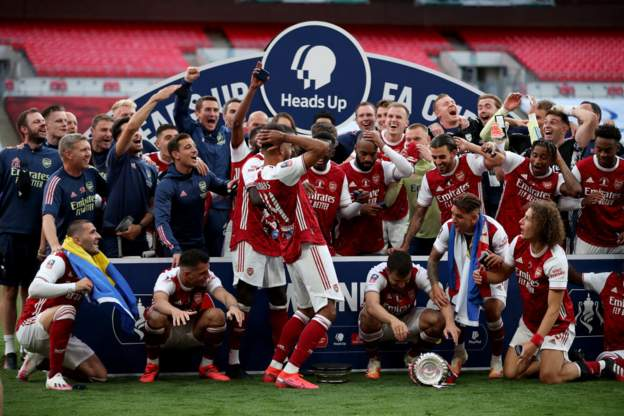 Arsenal come from behind to  beat Chelsea 2-1 and win the 2020 FA Cup