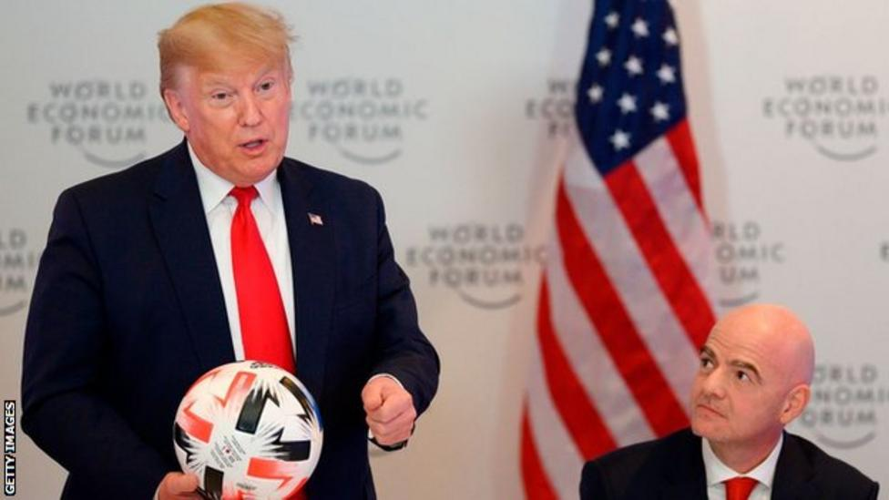 Fifa president Gianni Infantino meets Donald Trump to discuss 2026 World Cup